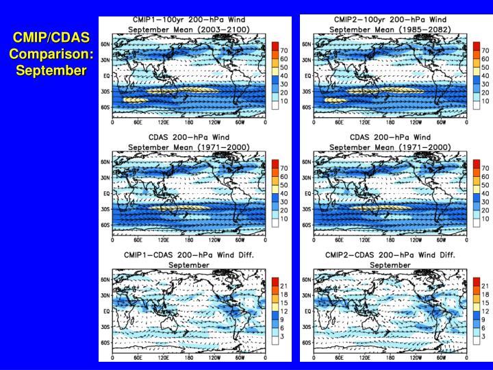 CMIP/CDAS Comparison: September