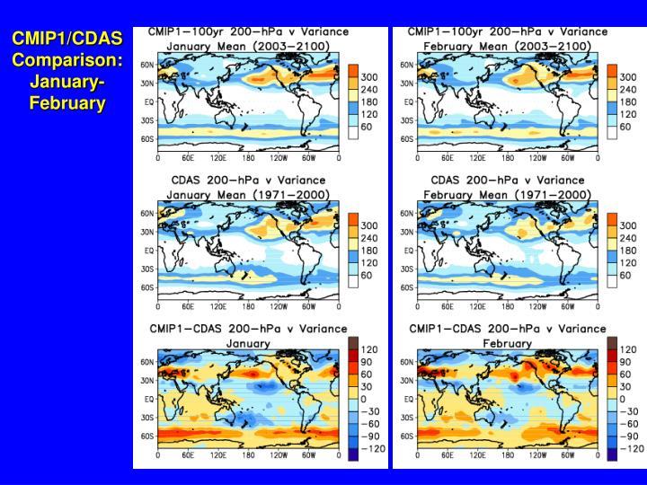CMIP1/CDAS Comparison: January-February