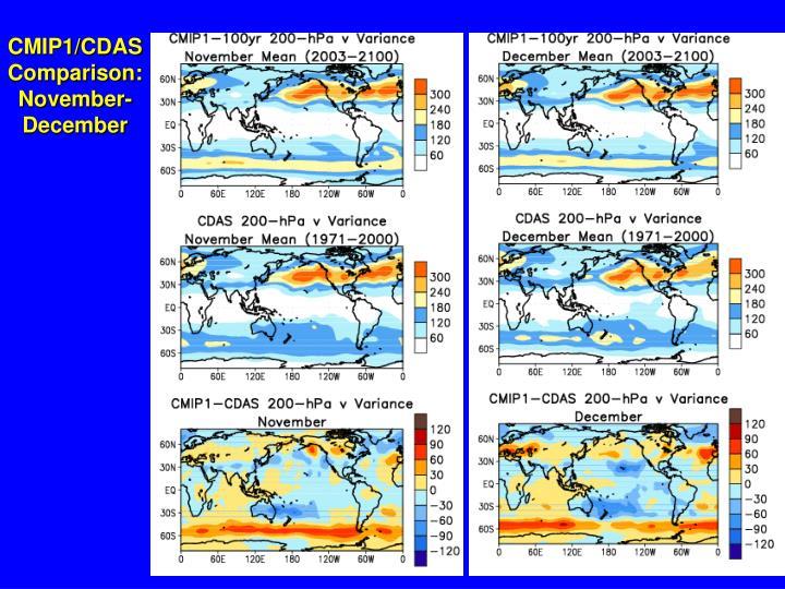 CMIP1/CDAS Comparison: November-December