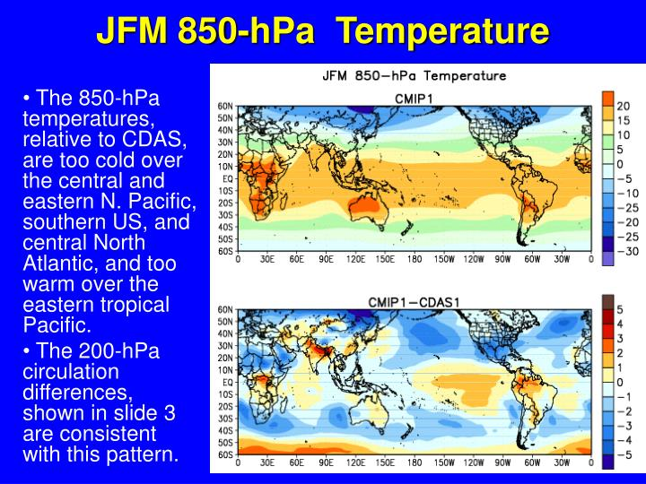 JFM 850-hPa  Temperature