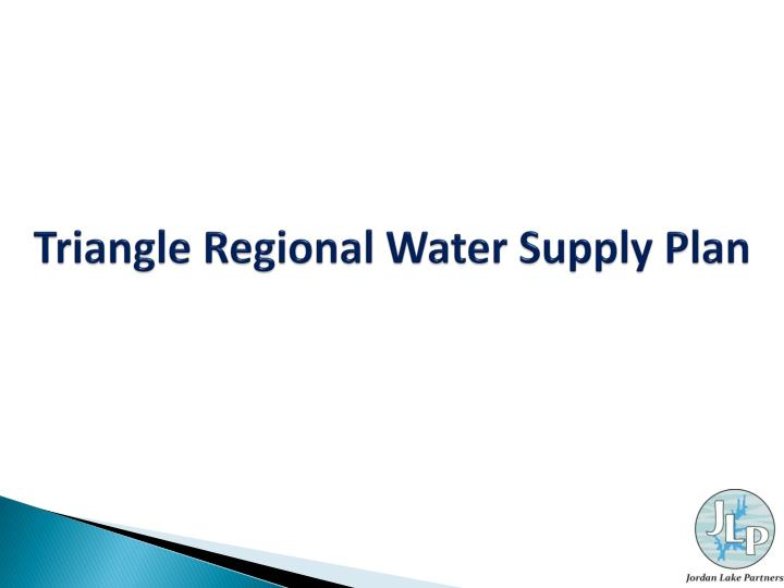 Triangle Regional Water Supply Plan