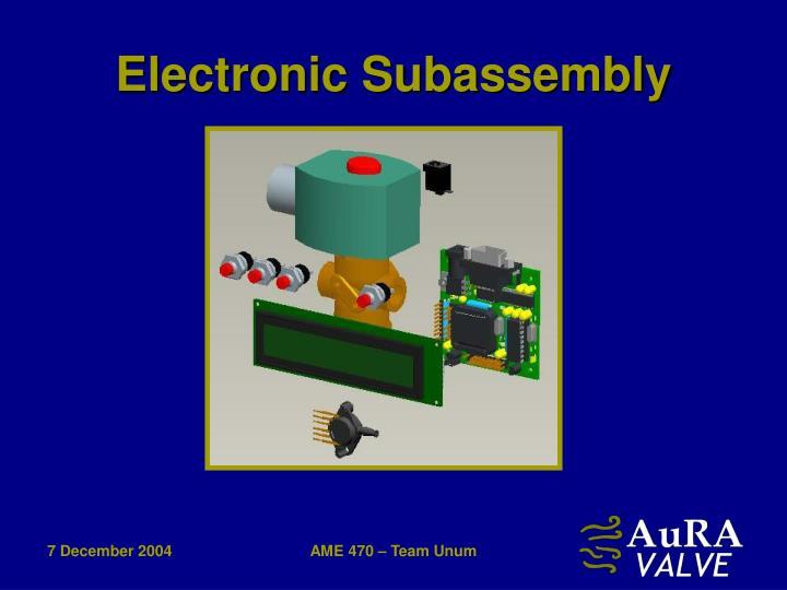 Electronic Subassembly