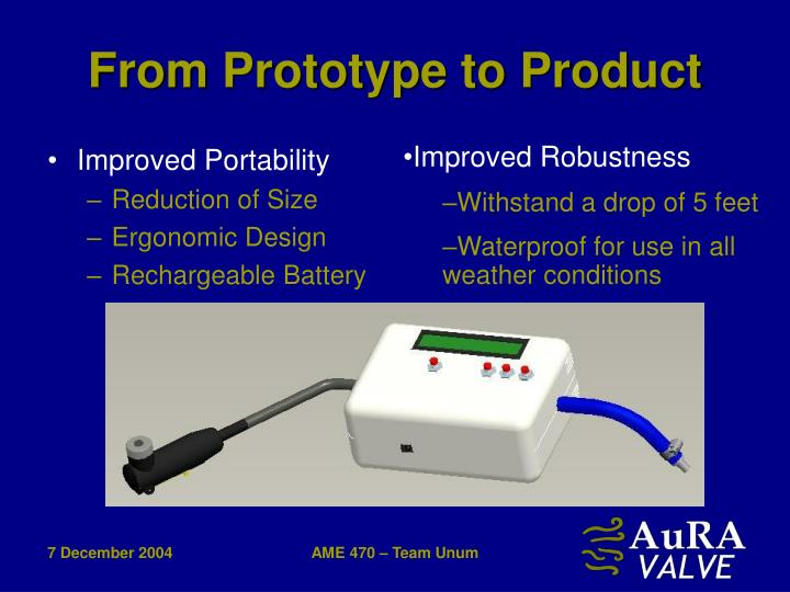 From Prototype to Product
