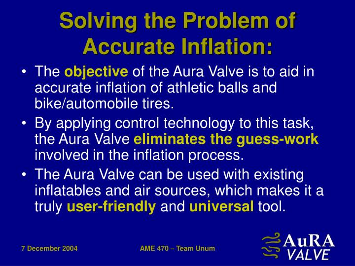 Solving the Problem of Accurate Inflation: