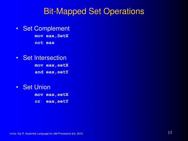 Bit-Mapped Set Operations