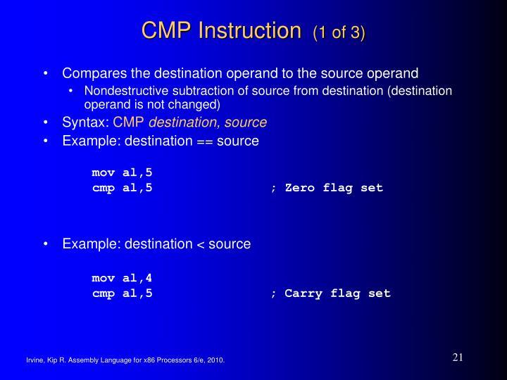 Example: destination < source