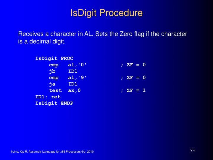 IsDigit Procedure