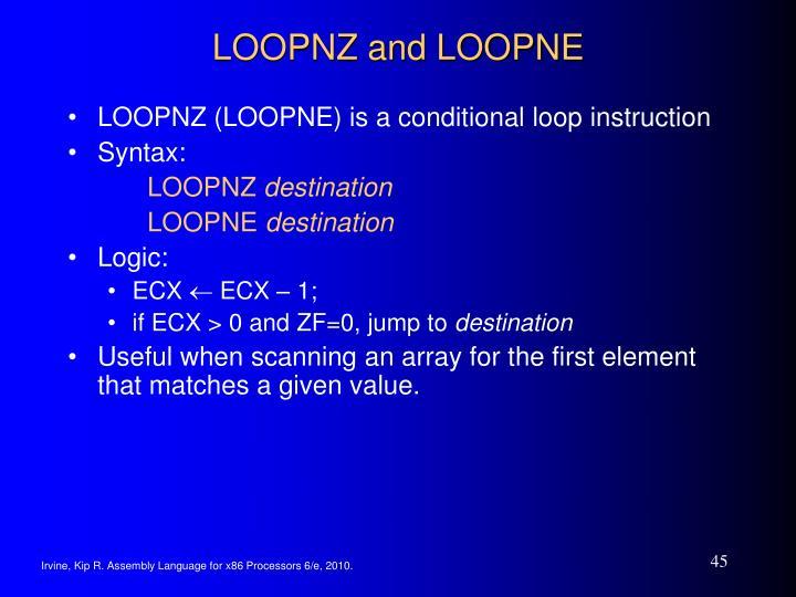 LOOPNZ and LOOPNE