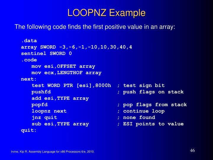 LOOPNZ Example