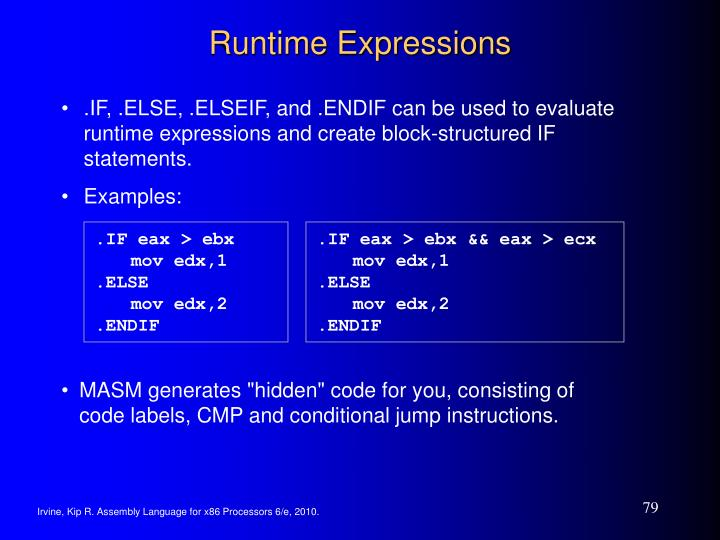 Runtime Expressions