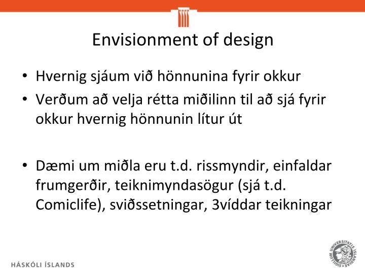 Envisionment of design