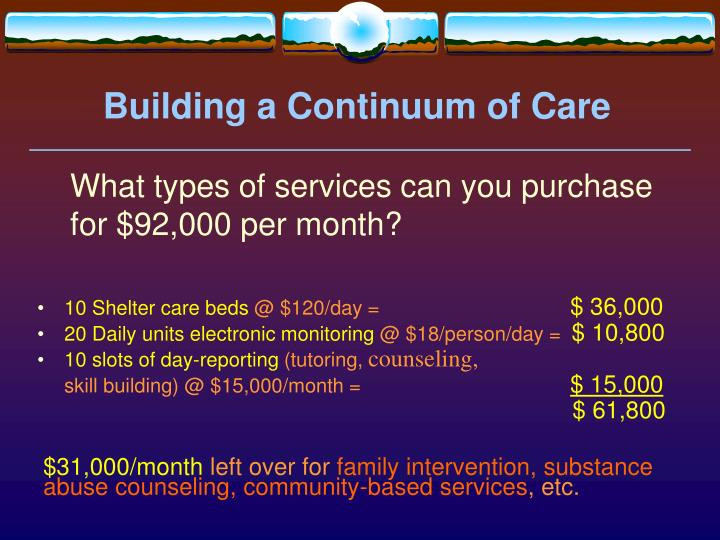 Building a Continuum of Care