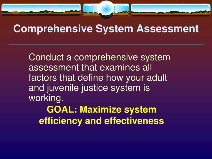 Comprehensive System Assessment