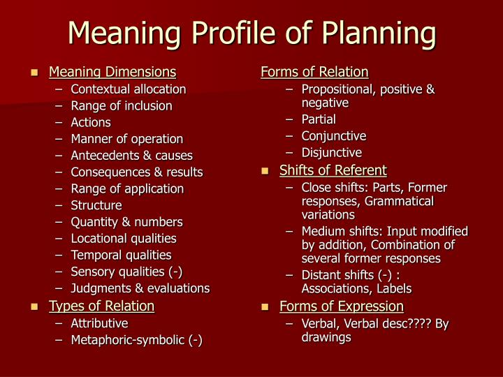 Meaning Dimensions