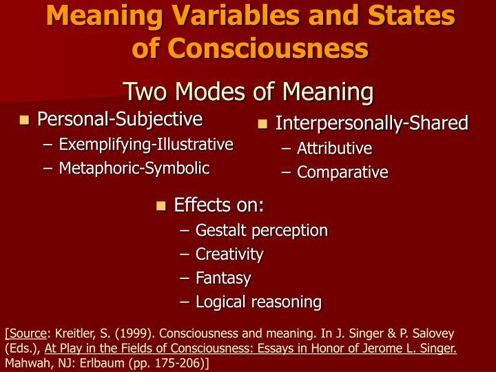Personal-Subjective