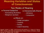 two modes of meaning