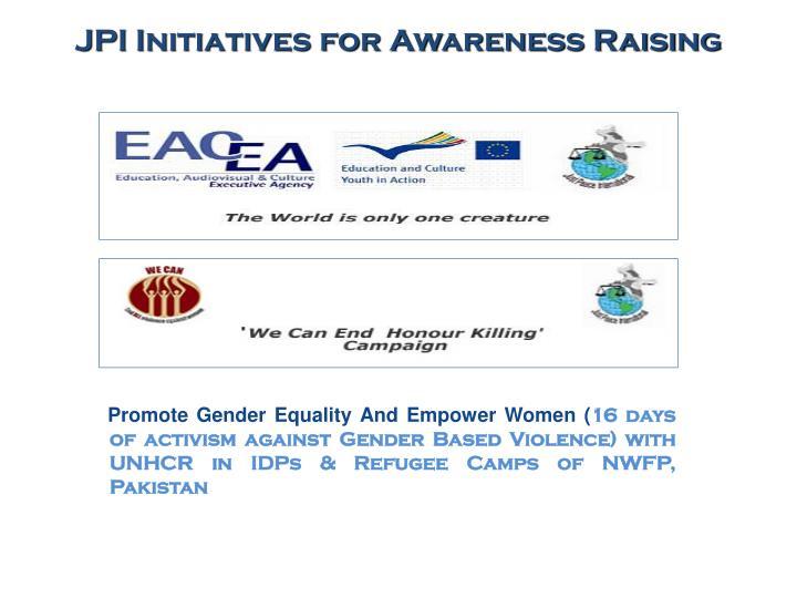 JPI Initiatives for Awareness Raising