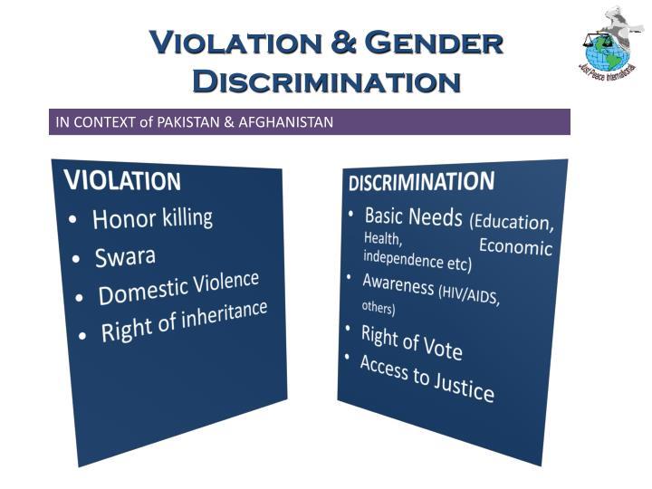 Violation & Gender Discrimination