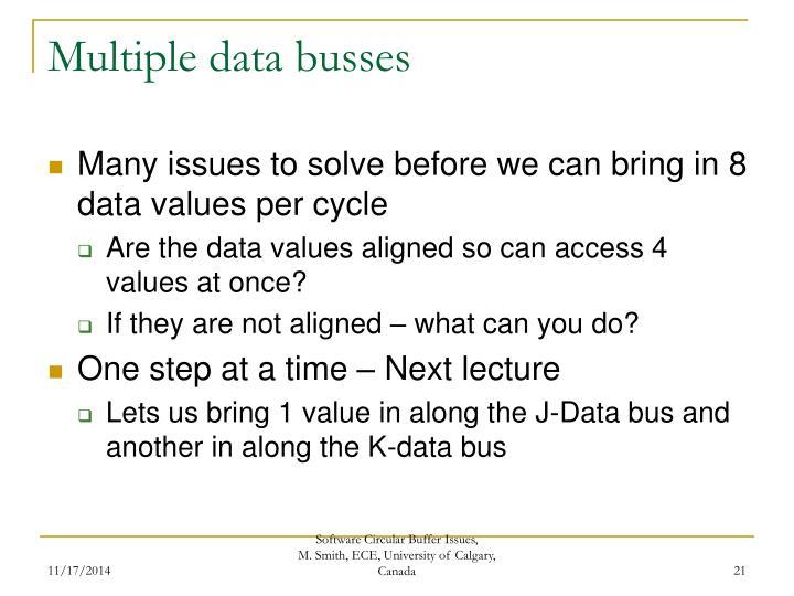 Multiple data busses