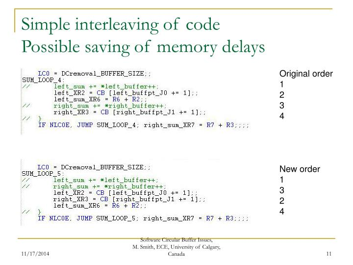 Simple interleaving of code