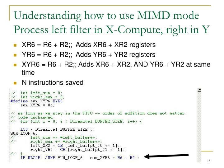 Understanding how to use MIMD mode