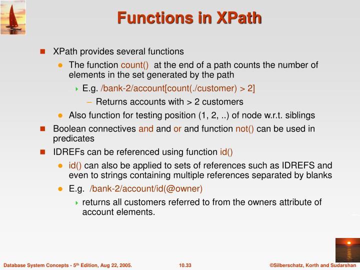 Functions in XPath