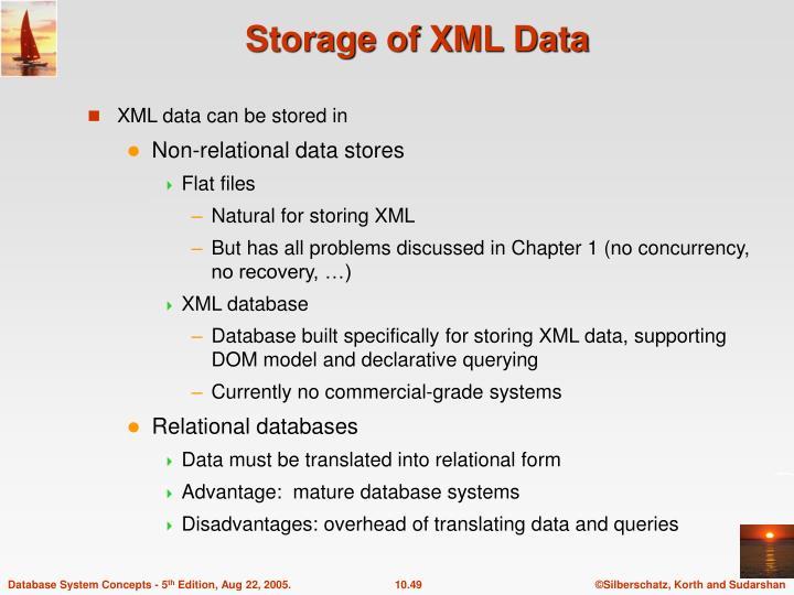 Storage of XML Data