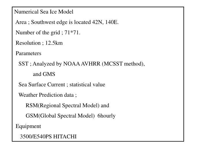 Numerical Sea Ice Model
