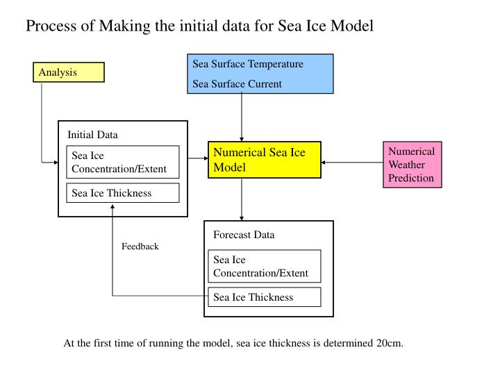 Process of Making the initial data for Sea Ice Model
