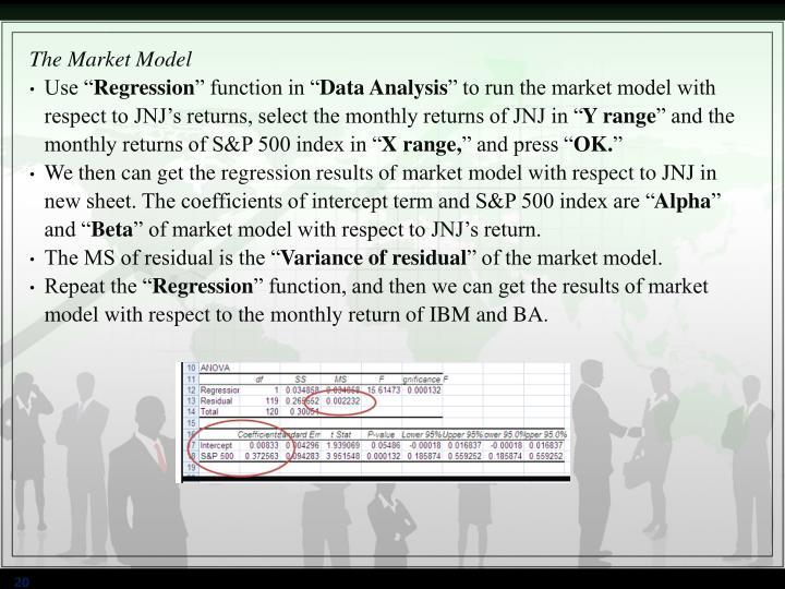 The Market Model