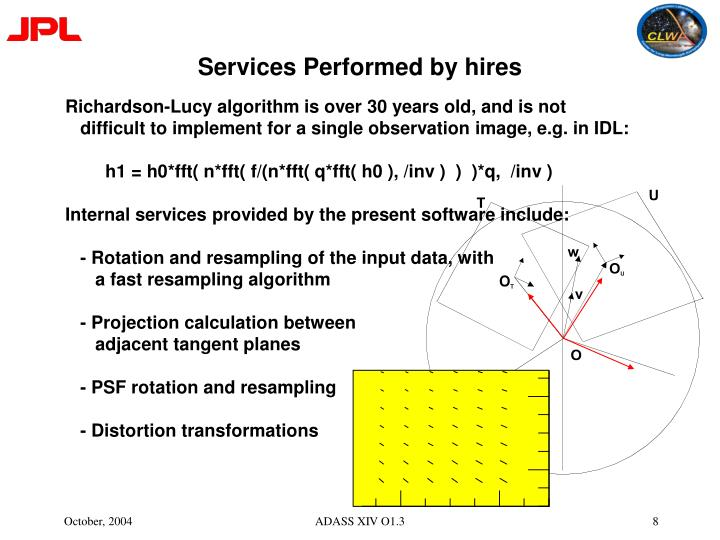 Services Performed by hires