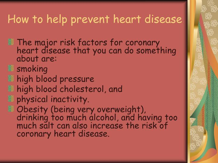 How to help prevent heart disease