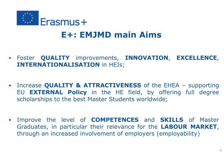 E+: EMJMD