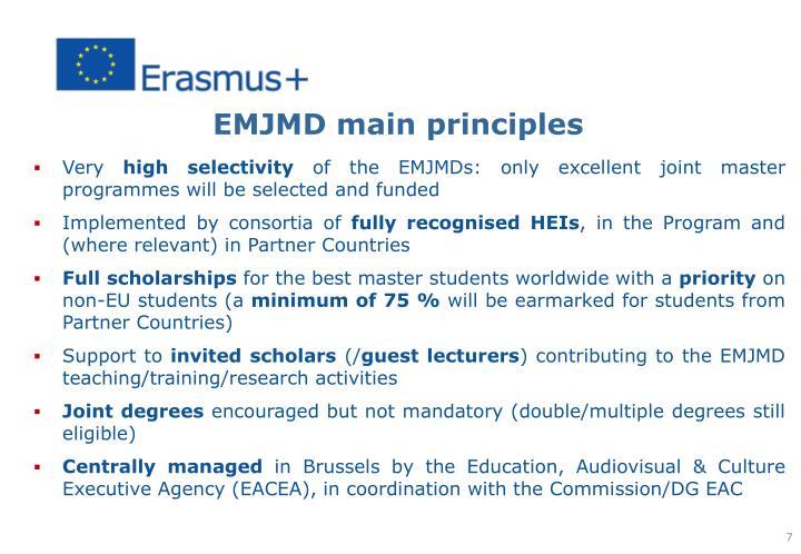 EMJMD main principles