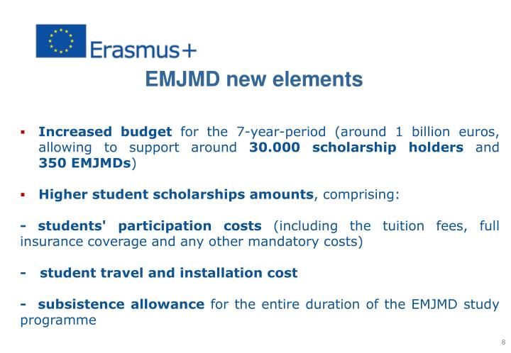 EMJMD new elements