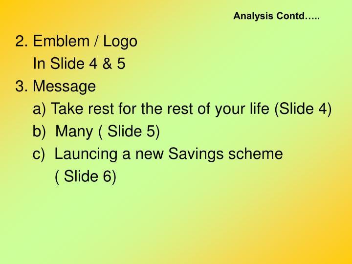 Analysis Contd…..