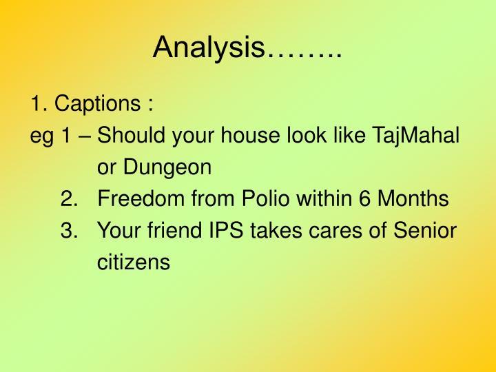 Analysis……..