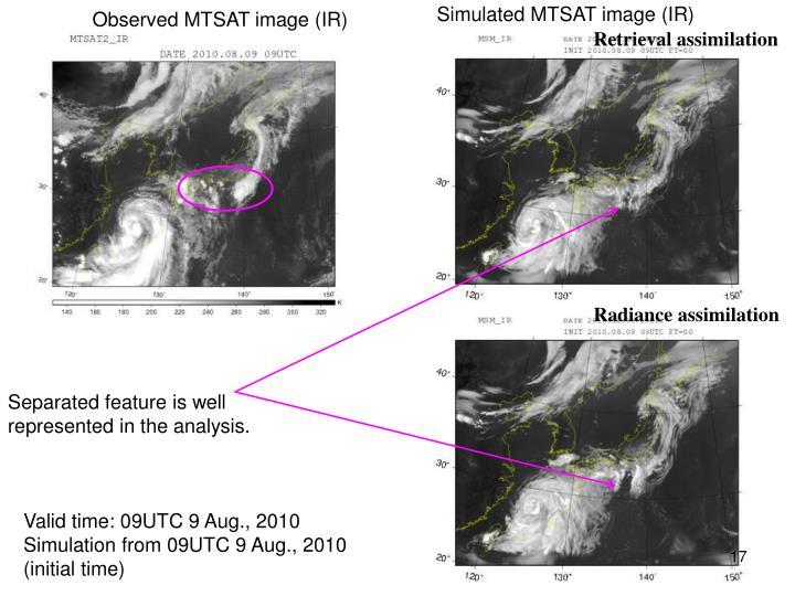 Simulated MTSAT image (IR)