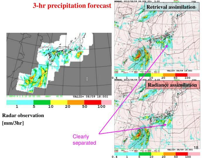 3-hr precipitation forecast