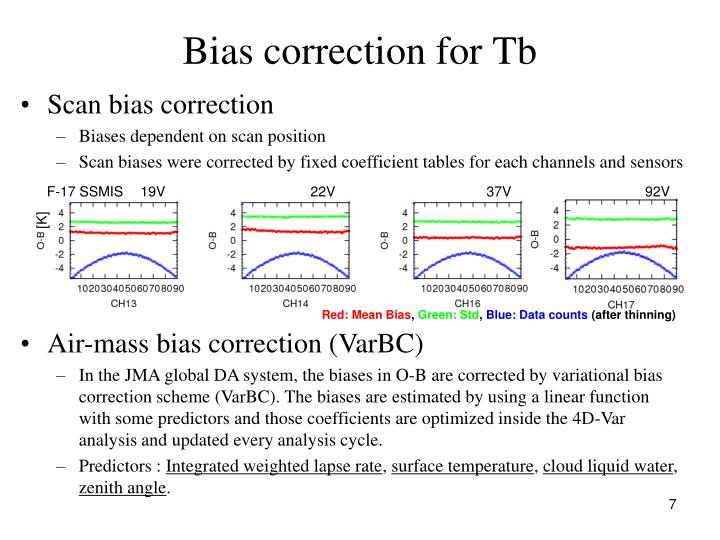 Bias correction for Tb