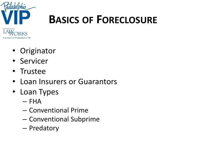 Basics of Foreclosure