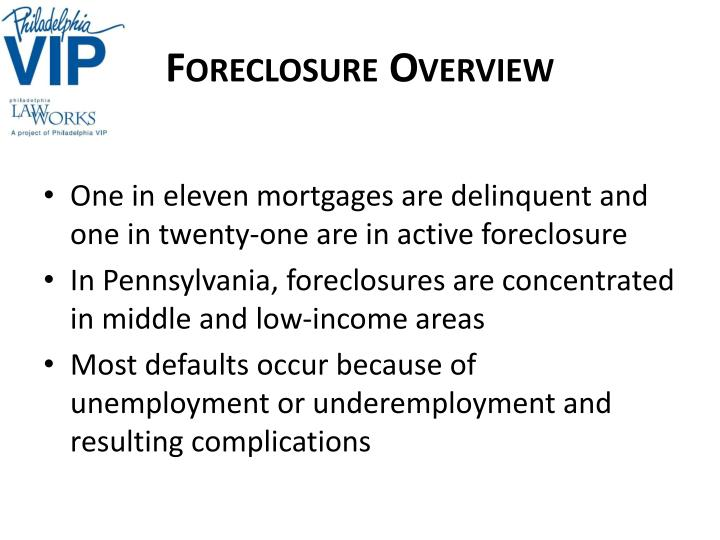 Foreclosure Overview