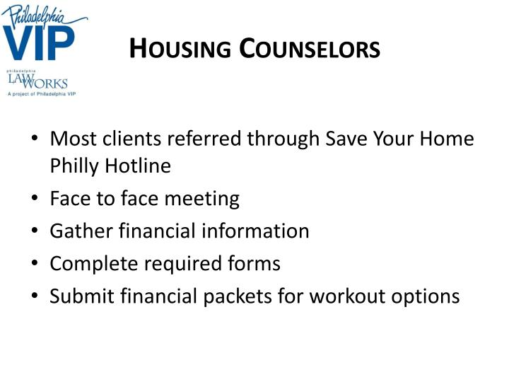 Housing Counselors