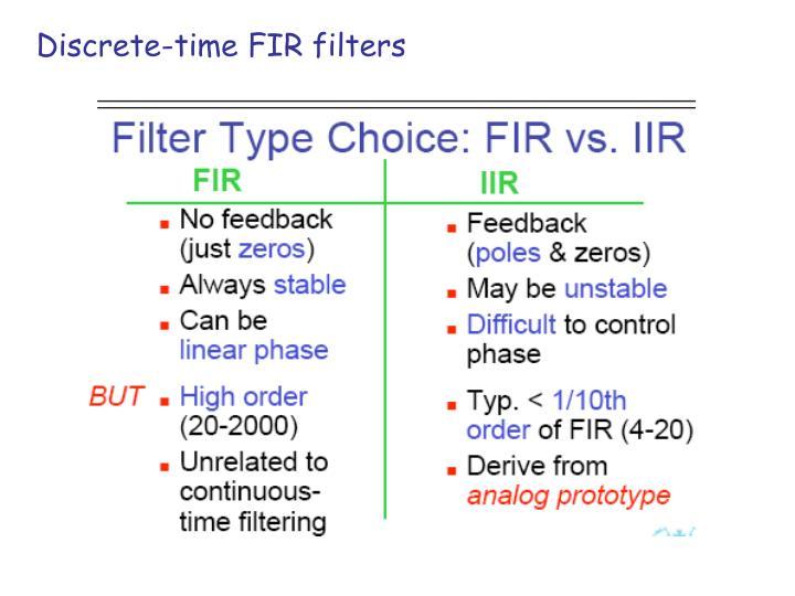 Discrete-time FIR filters
