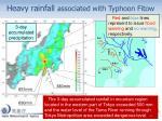 heavy rainfall associated with typhoon fitow