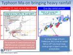 typhoon ma on bringing heavy rainfall