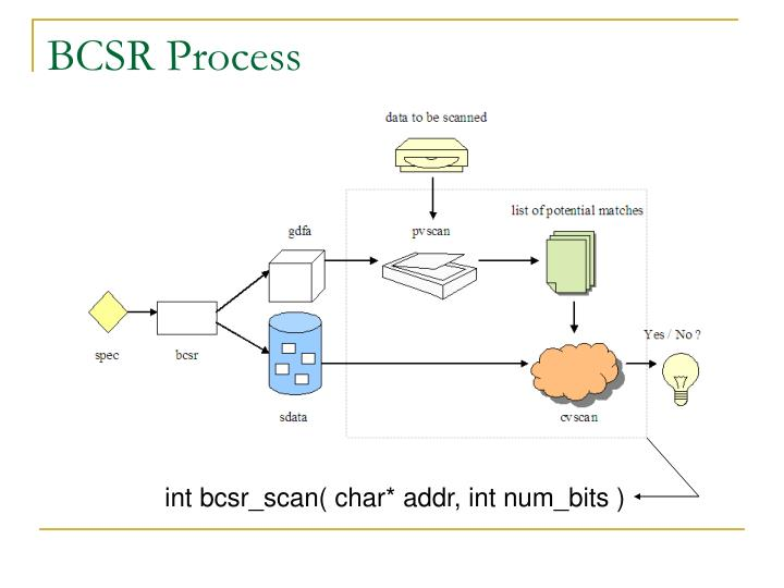 BCSR Process