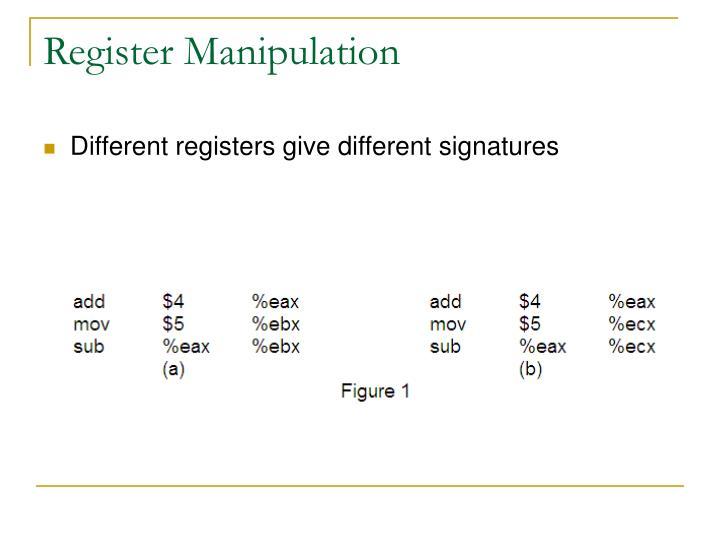 Register Manipulation