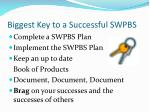 biggest key to a successful swpbs