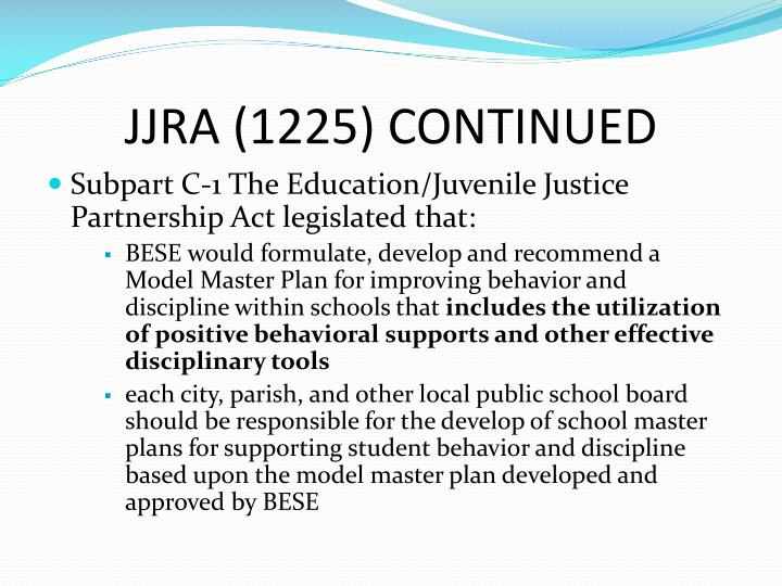 JJRA (1225) CONTINUED